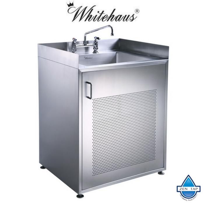 Whitehaus WHNC30CAB Single Door Stainless Steel Sink Vanity
