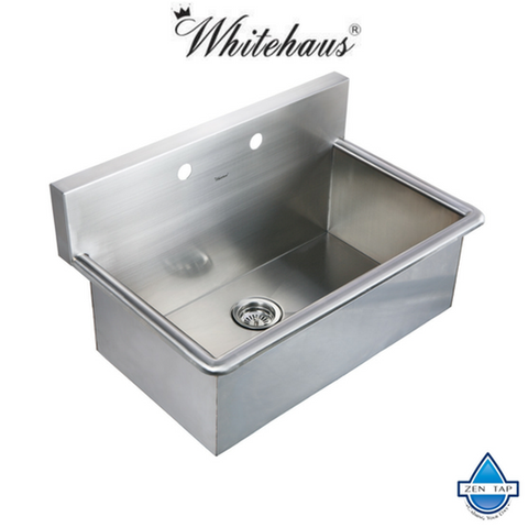 "Whitehaus WHNC3120 31"" Noah Stainless Steel Laundry / Utility Sink"