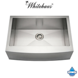 Whitehaus WHNCMAP3021 Stainless Steel 30'' Arched ApronFront Kitchen Sink