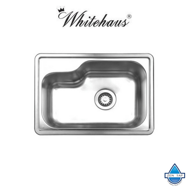 Whitehaus WHND1913 Stainless Steel 19'' Single Bowl Drop-In Kitchen Sink
