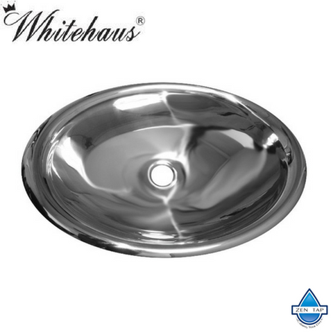 Whitehaus WHNVE218 Noah'S Collection Single Bowl Vessel Basin in Stainless Steel
