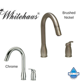 Whitehaus WHUS492 Modern Single Hole Pull Down Metrohaus Kitchen Faucet