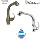 Whitehaus WHUS566 Modern Deck Mount Single Hole Pull Out Kitchen Faucet
