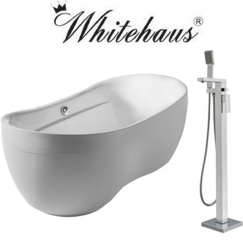 Whitehaus WHYB170BATH/WHT8868S Set