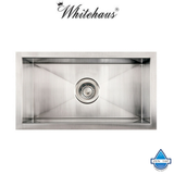 Whitehaus WINEHAUS Stainless Steel Single Bowl Undermount Bar Sink