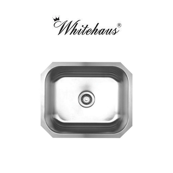 Whitehaus WHNU2016 Stainless Steel Single Bowl Undermount Sink