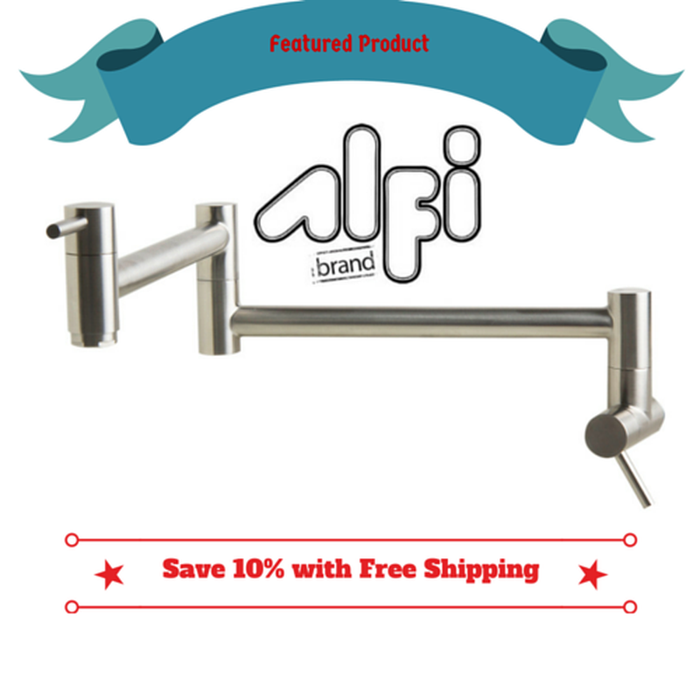 Alfi Brand AB5019 - Stainless Steel Retractable Pot Filler Faucet - Zen Tap Sinks - 1