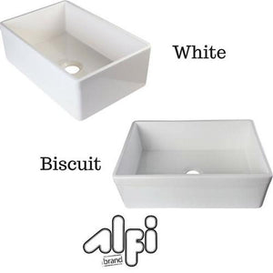 "ALFI brand AB511 30"" Farm Sink With Lip Single Bowl Design for Kitchen"