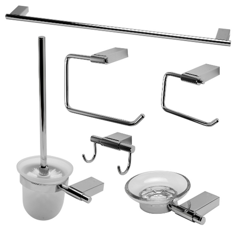 ALFI brand AB9515 6 Piece Matching Bathroom Accessory Set