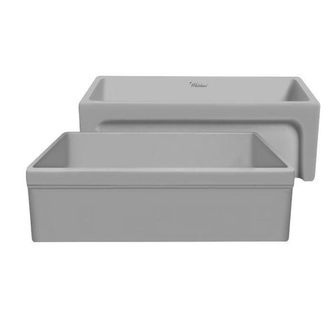 "Whitehaus WHQ5530-M Glencove 30"" Reversible Matte Fireclay Kitchen Sink"
