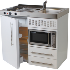 Elfin Premium +Compact Kitchen with Fridge and Microwave