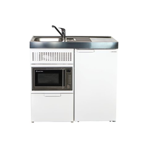 Elfin Essential + Compact Kitchen with Fridge and Microwave