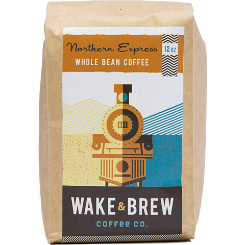 Northern Express 12oz Whole Bean Coffee 100% Arabica Whole Bean Coffee Roasted Fresh Buy Online Flat Rate Shipping Free Shipping Over $35 United States USA Fast Shipping - Wake & Brew Coffee Co.