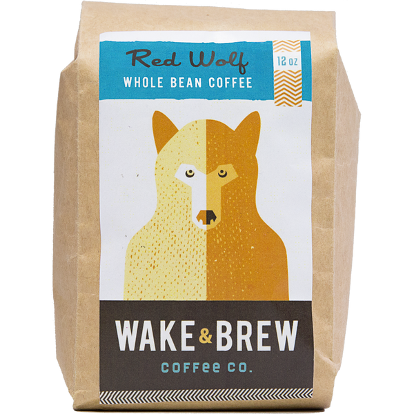 Red Wolf 12oz Whole Bean Coffee 100% Arabica Whole Bean Coffee Roasted Fresh Buy Online Flat Rate Shipping Free Shipping Over $35 United States USA Fast Shipping - Wake & Brew Coffee Co.