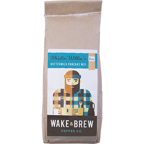 Whistlin' Willie's Pancake Mix 100% Arabica Whole Bean Coffee Roasted Fresh Buy Online Flat Rate Shipping Free Shipping Over $35 United States USA Fast Shipping - Wake & Brew Coffee Co.