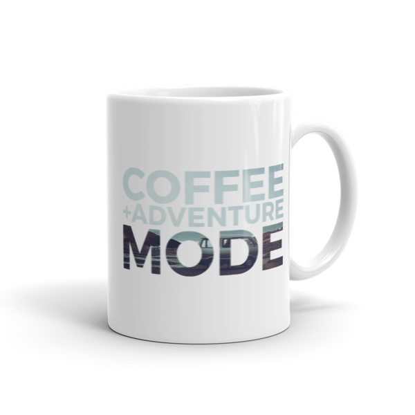 Coffee + Adventure Mode Mug  100% Arabica Whole Bean Coffee Roasted Fresh Buy Online Flat Rate Shipping Free Shipping Over $35 United States USA Fast Shipping - Wake & Brew Coffee Co.