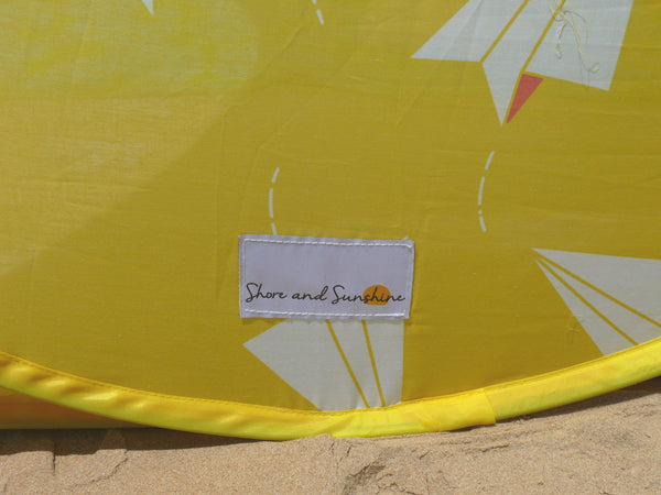 Pop-Up Beach Tent, Paper Planes - Shore and Sunshine - 9