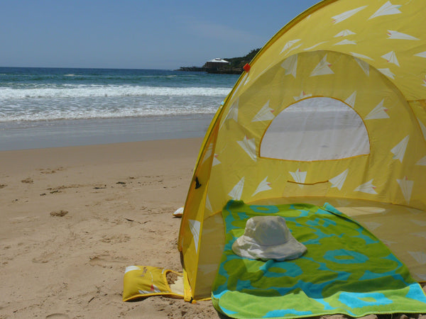 Pop-Up Beach Tent, Paper Planes - Shore and Sunshine - 3