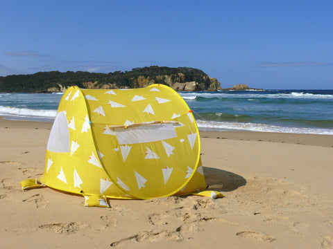 Pop-Up Beach Tent, Paper Planes - Shore and Sunshine - 1