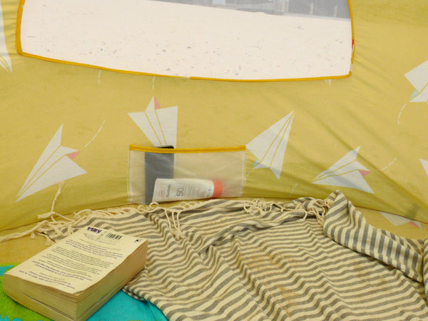 Pop-Up Beach Tent, Paper Planes - Shore and Sunshine - 7
