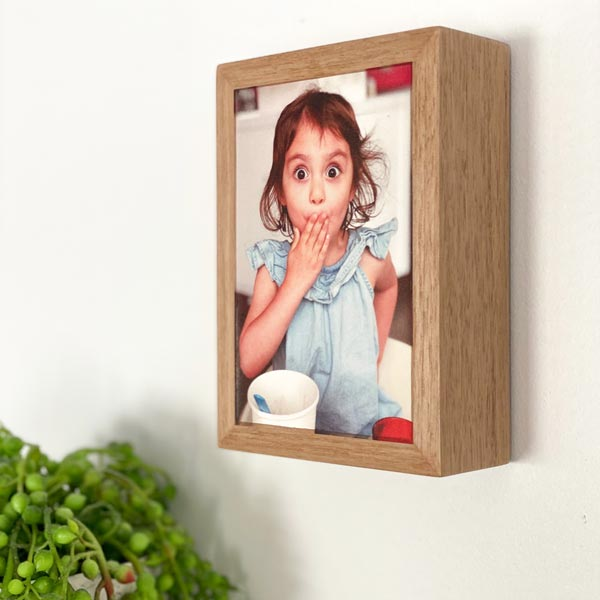 Oak framed stone print - 150 x 110mm