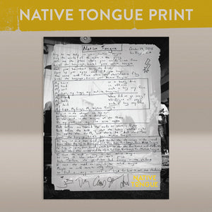 Native Tongue Lyric Print