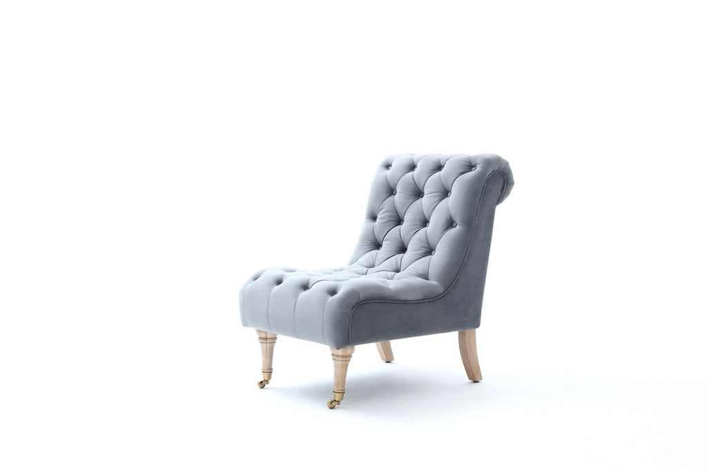 Astonishing Divani Casa Phoebe Modern Grey Tufted Accent Chair Squirreltailoven Fun Painted Chair Ideas Images Squirreltailovenorg