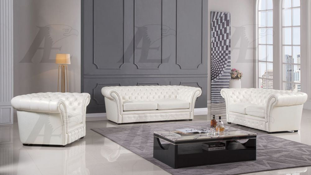 Phenomenal Ae502 Ivory Faux Leather Sofa Set Pdpeps Interior Chair Design Pdpepsorg