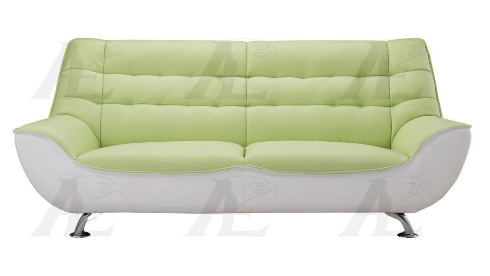 Tremendous Ae612 Green And White Faux Leather Sofa Set Pdpeps Interior Chair Design Pdpepsorg