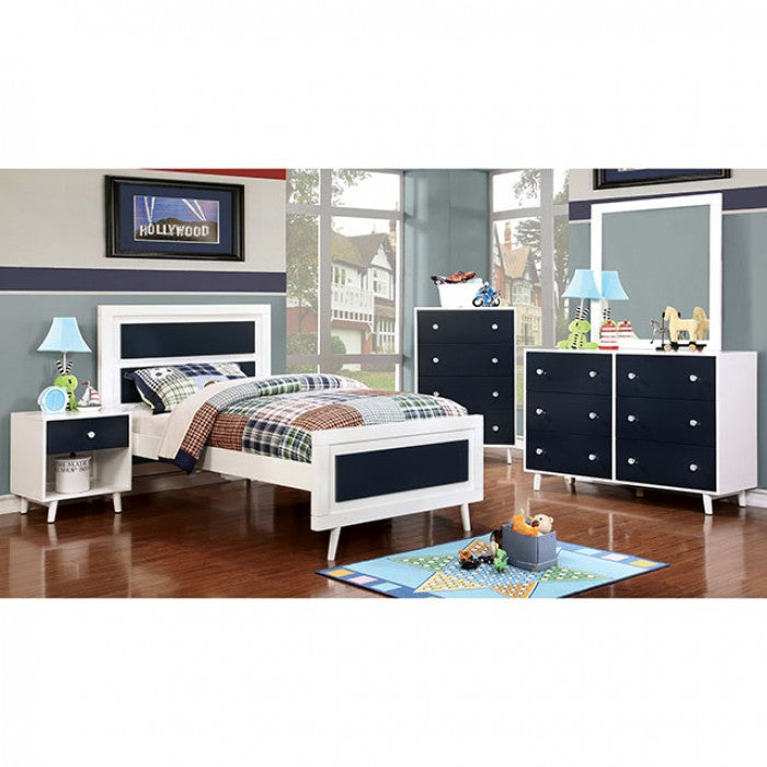 4 Pc Alivia Youth Bedroom Set | Bed, Nightstand, Dresser U0026 Mirror