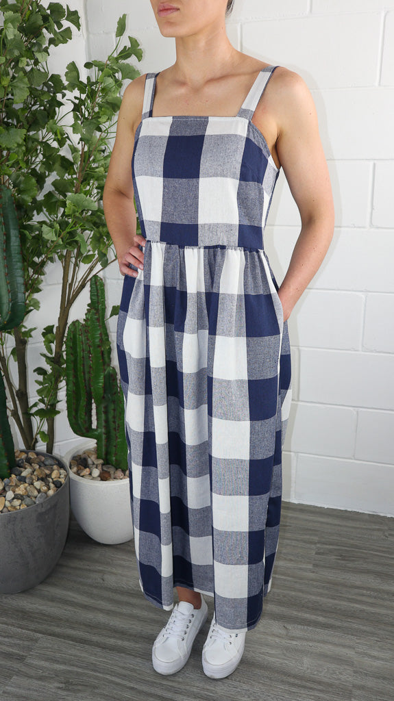 Lexi Dress - Navy Check