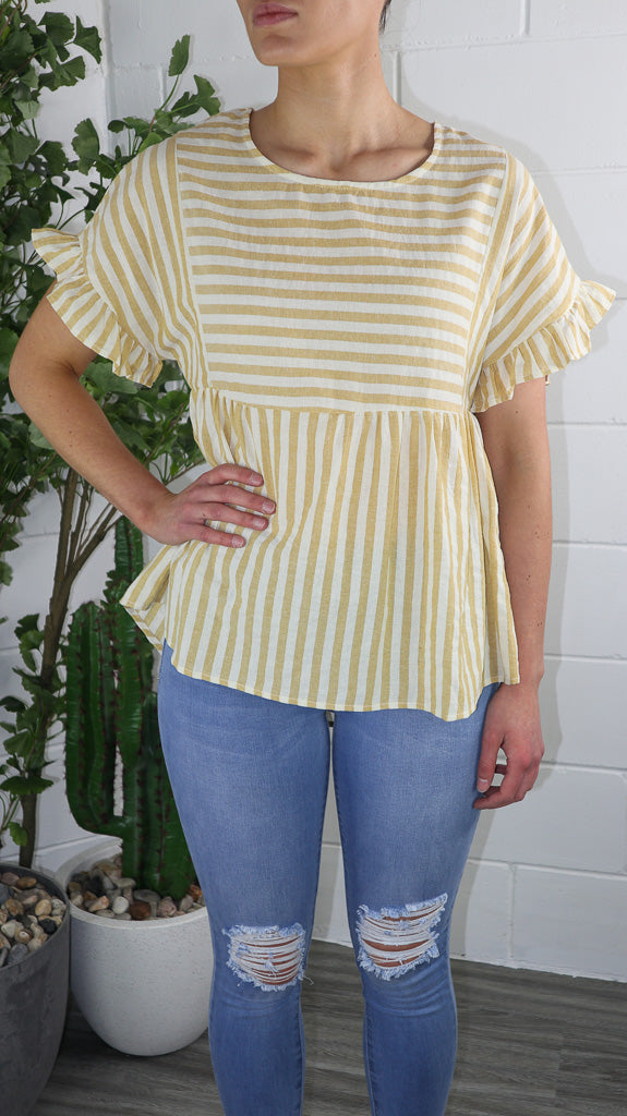Maz Mango Stripe Top