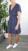 Henry Dress - Navy Printed