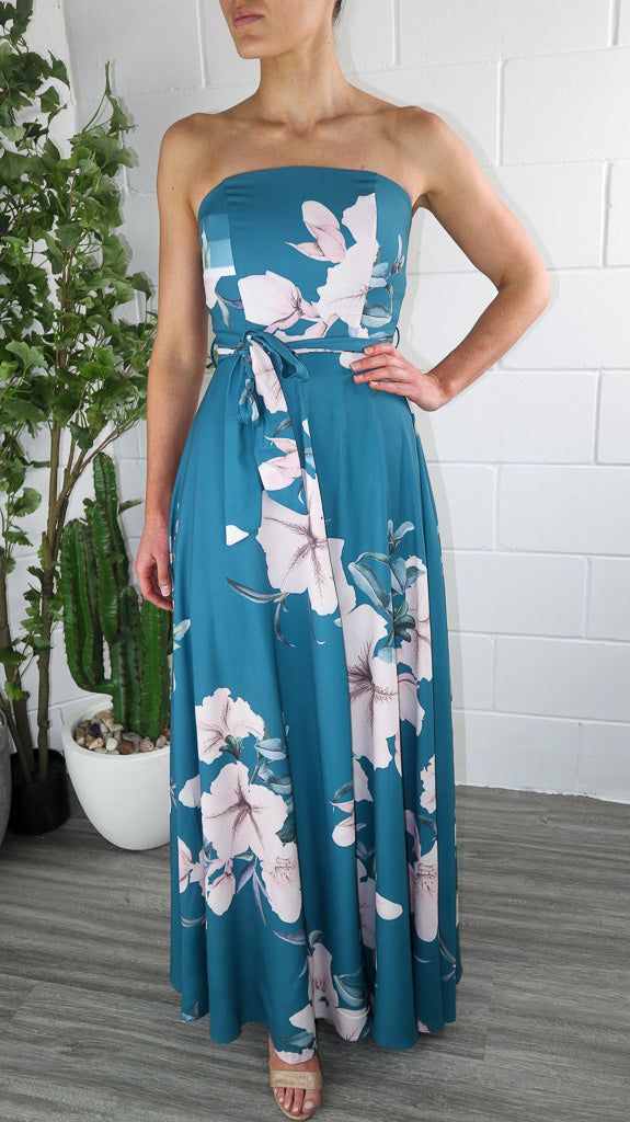 Winnie Split Leg Dress - Jade Print