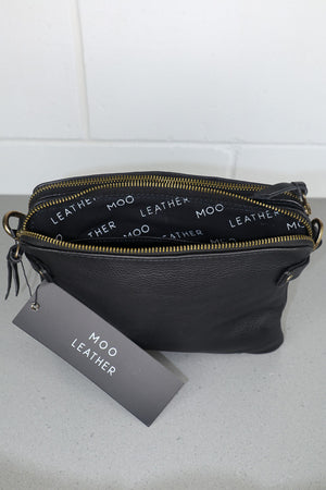 Black - Forbes Leather Crossbody Bag
