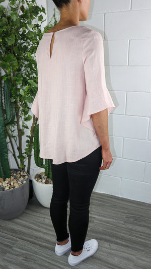Rully Blush 3/4 Sleeve Top