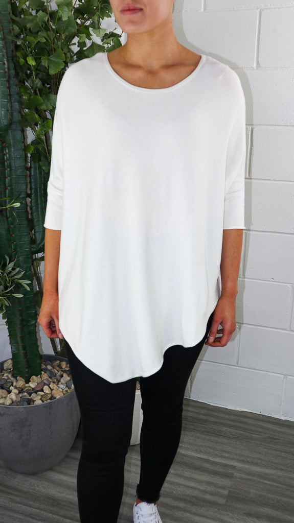 Sloppy Loo Knit - White