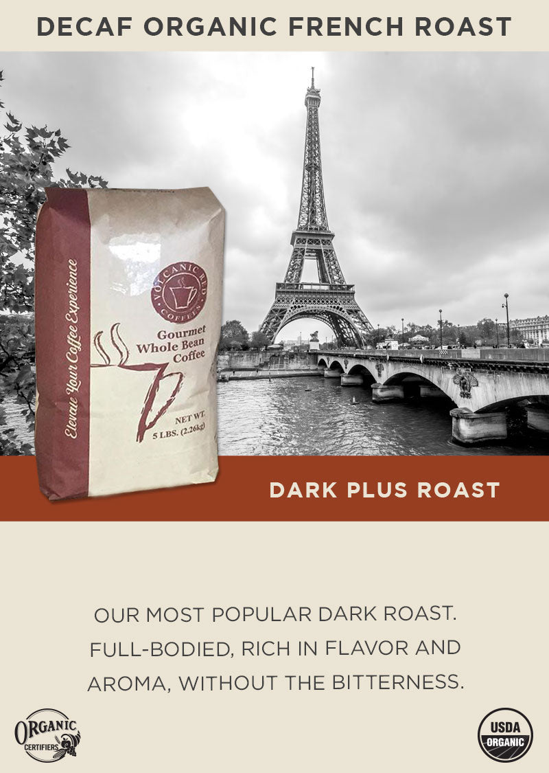 Decaf Organic French Roast - Bulk 5lb