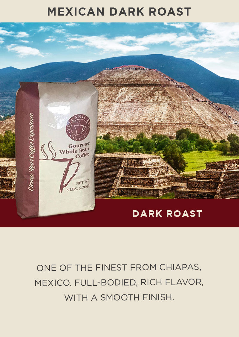 Mexican Dark Roast - Bulk 5lb (Save 15 % CODE - DRK15)