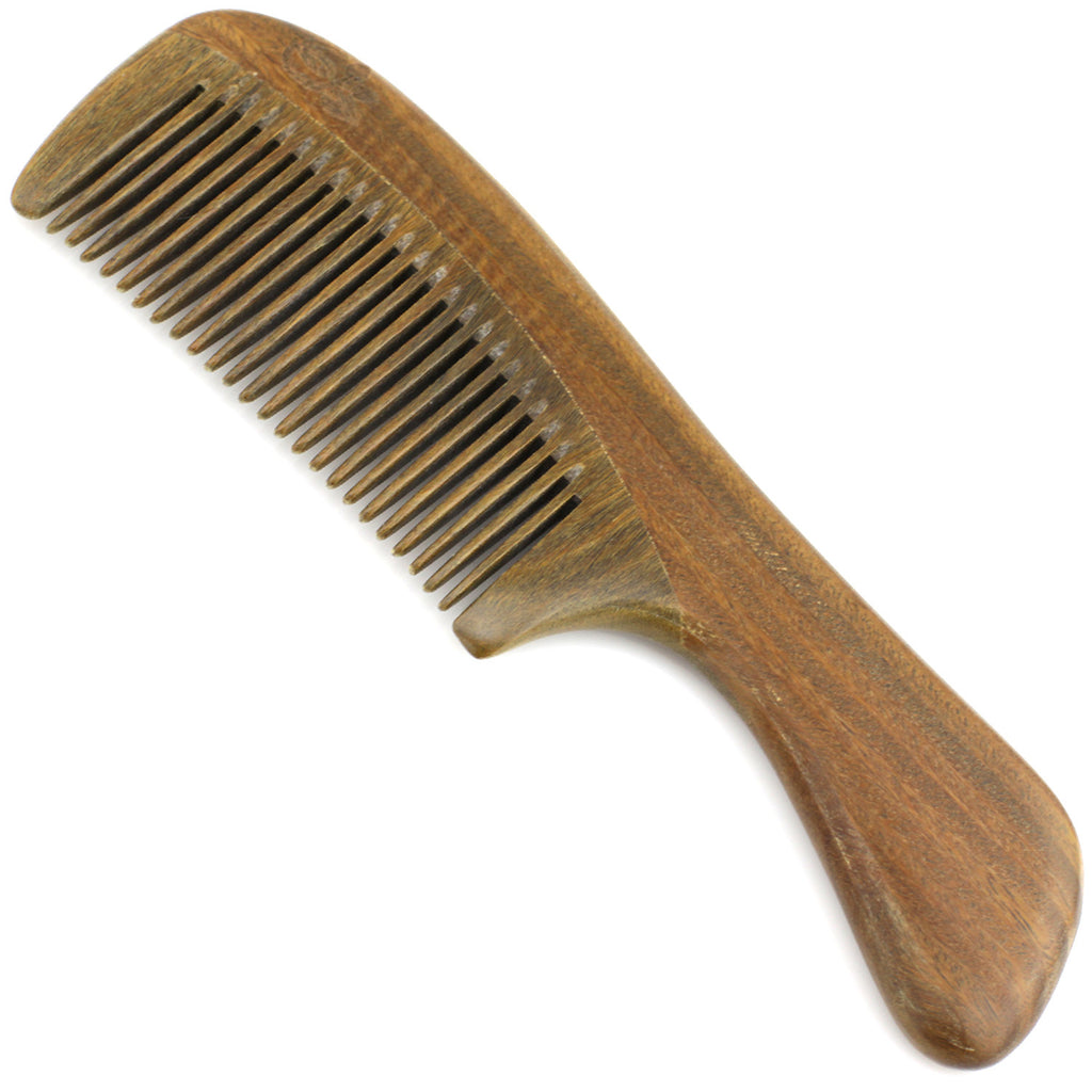 Evolatree - Elegant Natural Handcrafted Comb - Fine Tooth - Lignum Vitae Wood - Fine Tooth - 6.75""