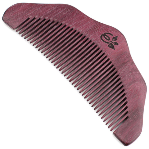Evolatree - Elegant Natural Handcrafted Comb - Fine Tooth - Purpleheart Wood - 5""