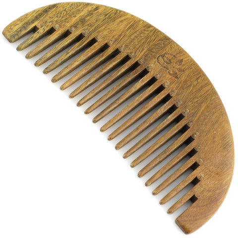 Evolatree - Elegant Natural Handcrafted Comb - Wide Tooth - Lignum Vitae Wood - 5""