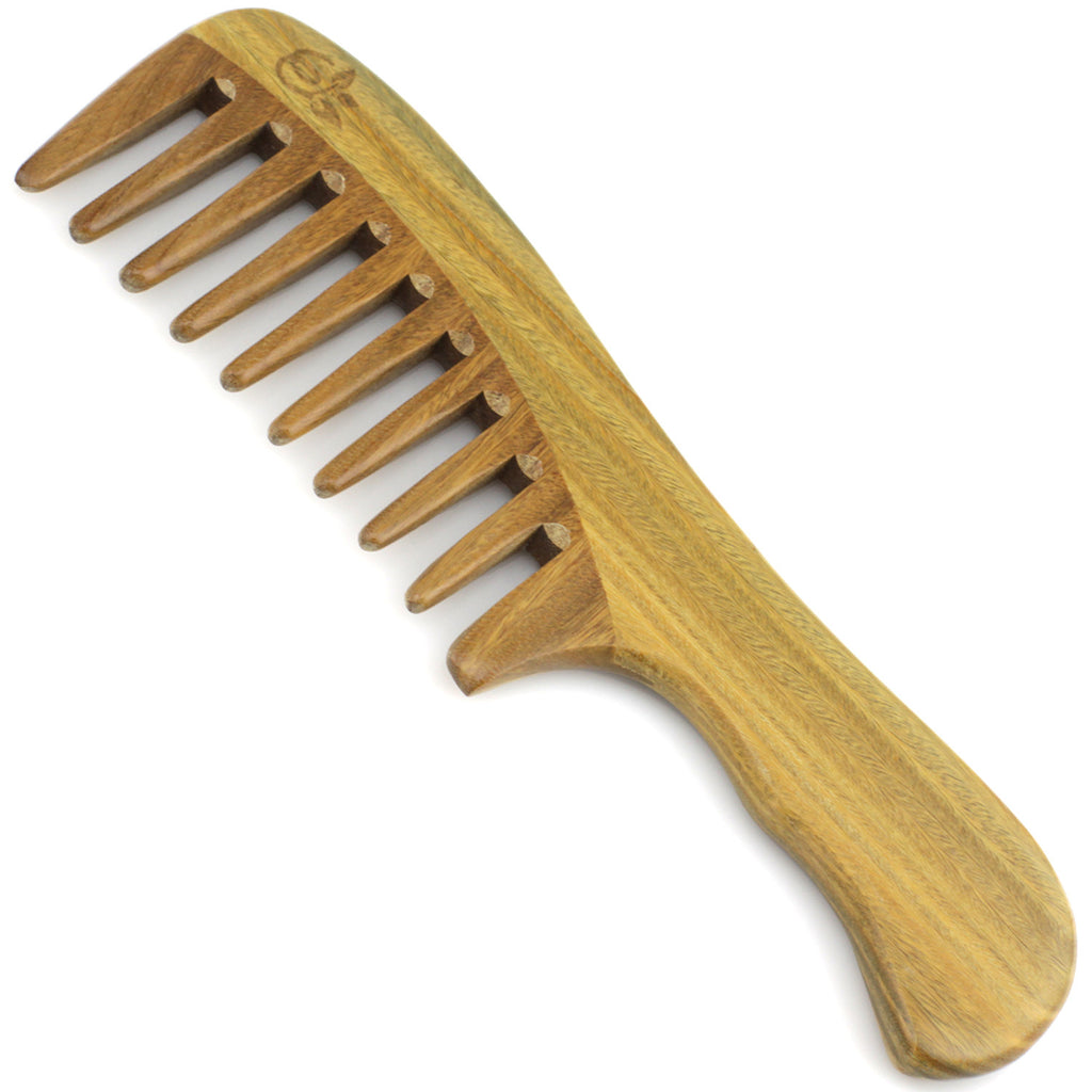 Evolatree - Elegant Natural Handcrafted Comb - Wide Tooth - Lignum Vitae Wood - 7.5""