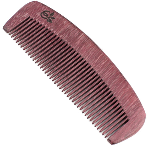 Evolatree - Natural Handcrafted Comb - Fine Tooth - Purple Heart Wood - 5""