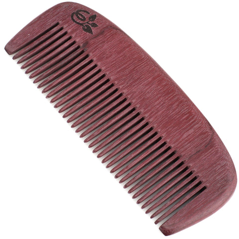 Evolatree - Natural Handcrafted Comb - Fine Tooth - Purpleheart Wood - 5""