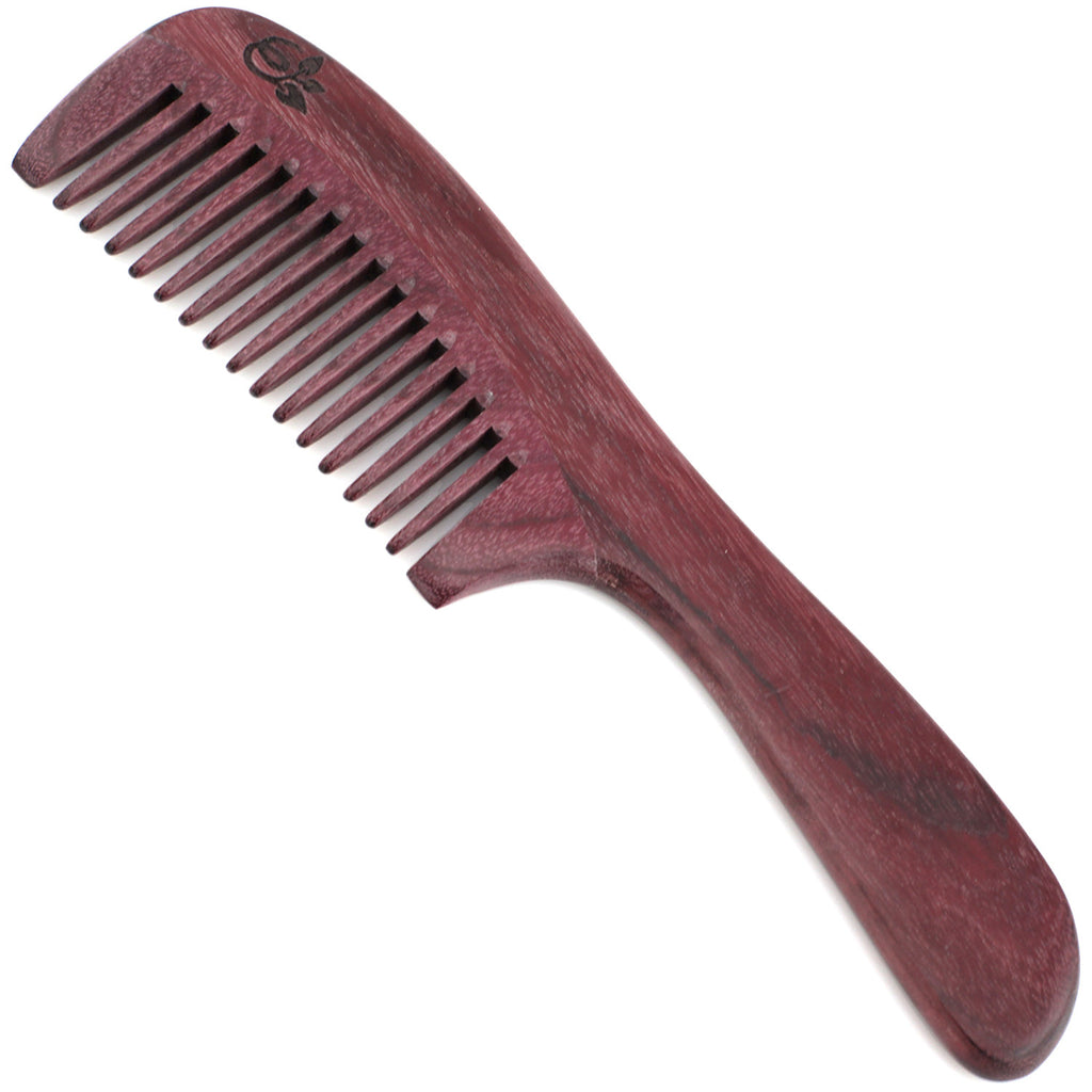 Evolatree - Natural Handcrafted Comb - Wide Tooth - Purpleheart Wood - 8""