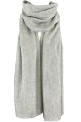 Luxurious Himalayan Cashmere Pashmina Scarf Shawl - Light Gray