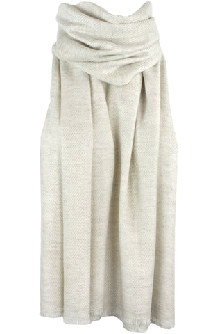 Luxurious Himalayan Cashmere Mid Weight Pashmina Scarf Shawl - Ivory Cream
