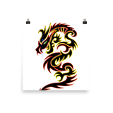 Tattoo Tribal Dragon Poster - Keywebco