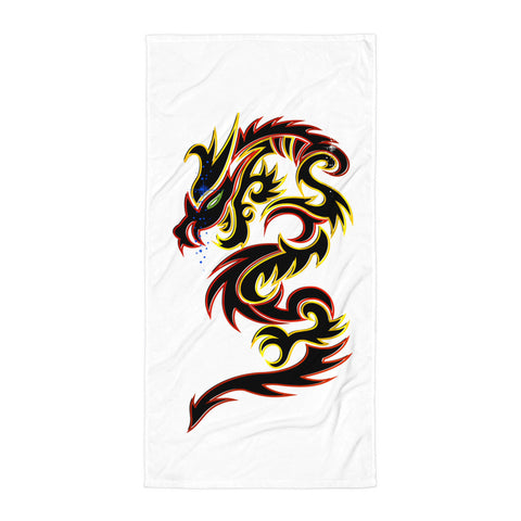 Tattoo Tribal Dragon Beach Blanket - Keywebco